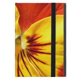 Capa iPad Mini Amarelo e amor perfeito vermelho oxidado