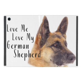 Capa iPad Mini Ame-me amor meu german shepherd