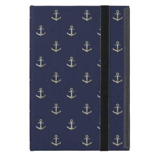 Capa iPad Mini Âncora náutica dos azuis marinhos