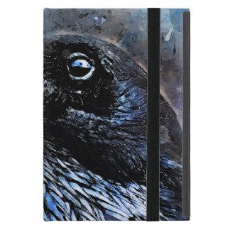 Capa iPad Mini #animals do #bird do #crow da arte do corvo