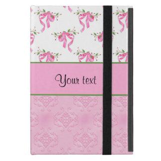 Capa iPad Mini Arcos cor-de-rosa românticos & damasco cor-de-rosa