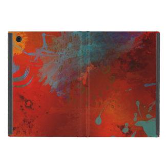 Capa iPad Mini Arte abstracta de Digitas do Grunge do vermelho,