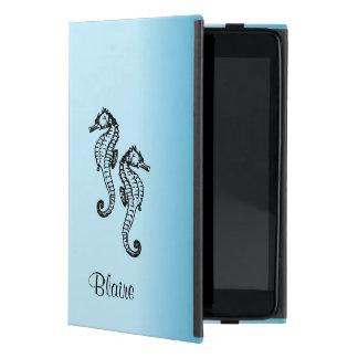 Capa iPad Mini Azul do cavalo marinho