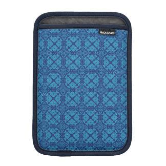 Capa iPad Mini Azul floral geométrico do vintage no azul