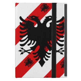 Capa iPad Mini Bandeira albanesa das listras
