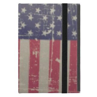 Capa iPad Mini Bandeira americana resistida, afligida dos EUA