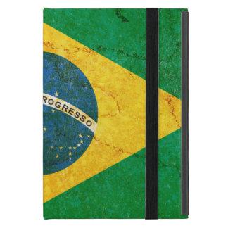 Capa iPad Mini Bandeira de Brasil do Grunge do vintage