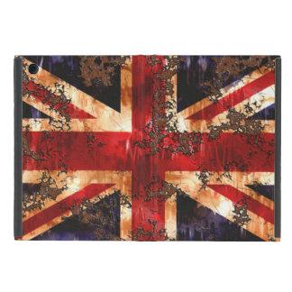 Capa iPad Mini Bandeira patriótica oxidada de Reino Unido