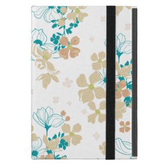Capa iPad Mini Bege floral e cerceta