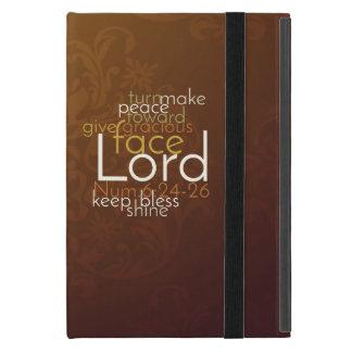 Capa iPad Mini Bênção sacerdotal no damasco de cobre de Brown