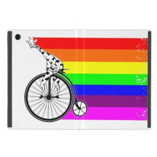Capa iPad Mini Bicicleta do arco-íris do girafa