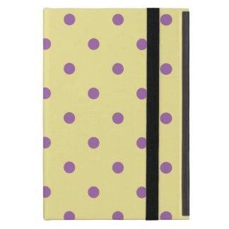 Capa iPad Mini bolinhas amarelas roxas elegantes