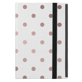 Capa iPad Mini bolinhas cor-de-rosa do ouro do falso elegante