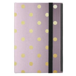 Capa iPad Mini bolinhas cor-de-rosa do ouro do ouro elegante do