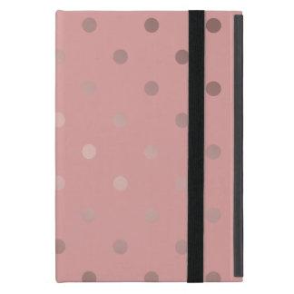 Capa iPad Mini bolinhas cor-de-rosa do rosa do ouro do falso