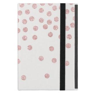 Capa iPad Mini bolinhas cor-de-rosa femininos dos confetes do