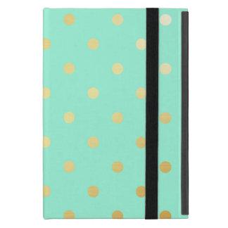 Capa iPad Mini bolinhas da hortelã do ouro do falso