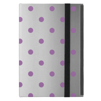 Capa iPad Mini bolinhas de prata do falso roxo elegante