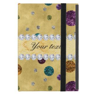 Capa iPad Mini Bolinhas e diamantes do brilho