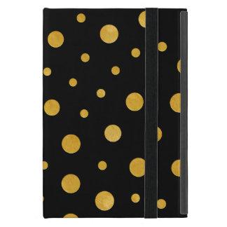 Capa iPad Mini Bolinhas elegantes - ouro preto