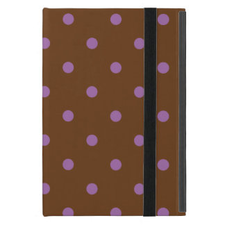 Capa iPad Mini bolinhas marrons roxas elegantes