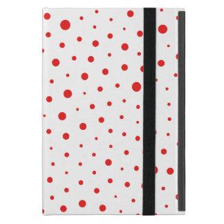Capa iPad Mini Bolinhas modernas elegantes - Vermelhas
