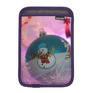 Capa iPad Mini Boneco de neve - bolas do Natal - Feliz Natal