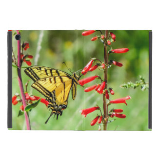 Capa iPad Mini Borboleta e Wildflowers de Swallowtail do tigre
