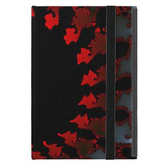 Capa iPad Mini Branco preto vermelho do Fractal