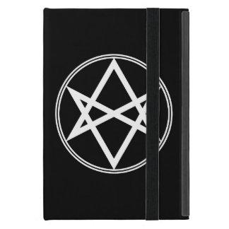 Capa iPad Mini Branco Unicursal do Hexagram de Falln