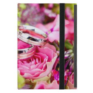 Capa iPad Mini Buquê do casamento com bandas da aliança de