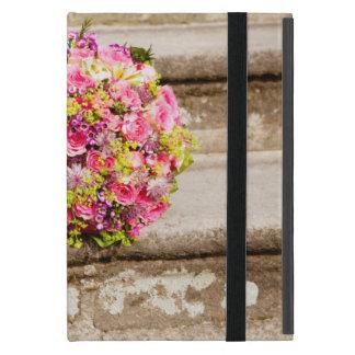 Capa iPad Mini Buquê floral do casamento do rosa e do verde