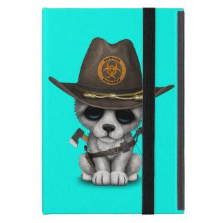 Capa iPad Mini Caçador bonito do zombi de Cub de lobo