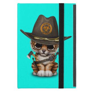 Capa iPad Mini Caçador bonito do zombi de Cub de tigre
