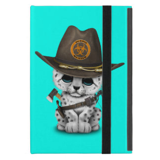 Capa iPad Mini Caçador bonito do zombi de Cub do leopardo de neve