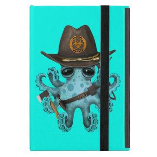 Capa iPad Mini Caçador do zombi do polvo do bebê azul