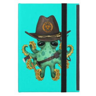 Capa iPad Mini Caçador verde do zombi do polvo do bebê