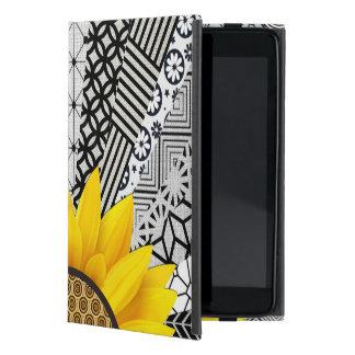 Capa iPad Mini Caixa amarela do ipad do teste padrão do raio de