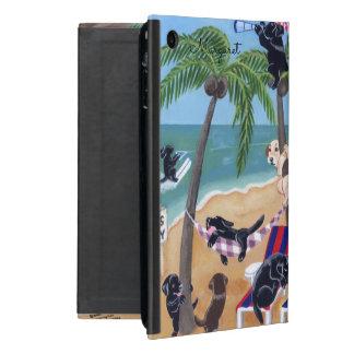 Capa iPad Mini Caixa personalizada de Labradors das férias de