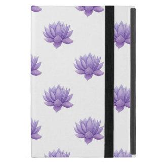 Capa iPad Mini Caixa roxa do Succulent da aguarela