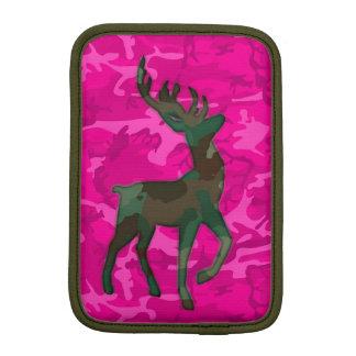 Capa iPad Mini Camo cor-de-rosa com cervos