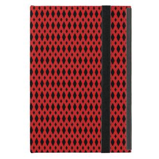 Capa iPad Mini Caso de Powis do iPad preto & vermelho do diamante