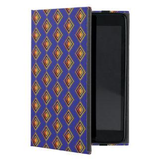 Capa iPad Mini Caso do iPad azul geométrico do teste padrão e do