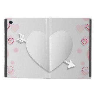 Capa iPad Mini Caso do iPad do coração & da seta mini sem