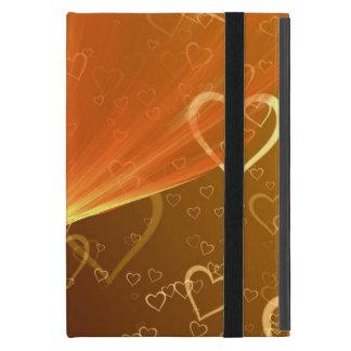 Capa iPad Mini Caso do iPad dos corações mini sem Kickstand