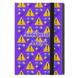 Capa iPad Mini Caso do iPad (roxo) alerta da atitude mini