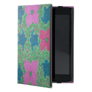 Capa iPad Mini Caso do iPad tropical das tartarugas e das flores