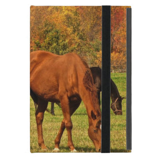 Capa iPad Mini Cavalos no outono