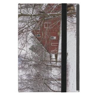 Capa iPad Mini Celeiro vermelho na neve