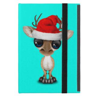 Capa iPad Mini Cervos do bebê que vestem um chapéu do papai noel